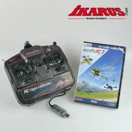Komplettset: aeroflyRC7 PROFESSIONAL mit USB-Commander