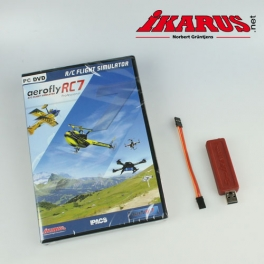 Komplettset: aeroflyRC7 PROFESSIONAL mit USB-Interface für Summensignal (Graupner-HoTT)