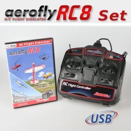 Set: aeroflyRC8 mit USB-FlightController