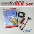 Set: aeroflyRC8 with Interface for Futaba/Spektrum