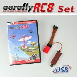 Set: aeroflyRC8 with Interface and Single-Line-Converter