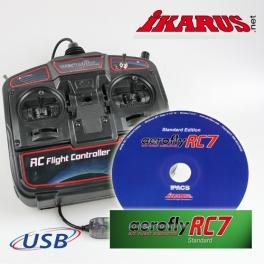 Set: aeroflyRC7 Standard  with USB-Commander