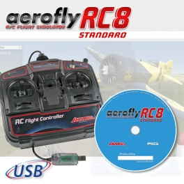 Set: aeroflyRC8 STANDARD with USB-FlightController