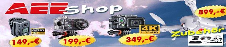 AEE-Videocopter, ActionCams und Zubehör